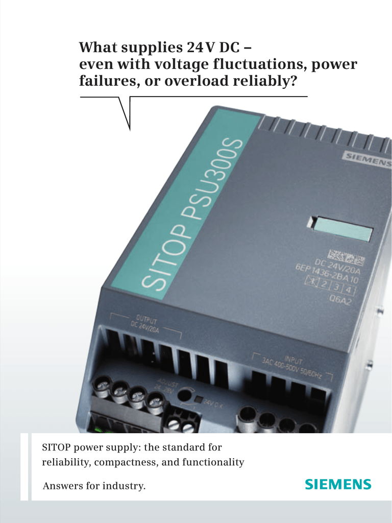 SIEMENS SITOP PSU100C 6EP1332-5BA00  6EP1 332-5BA00 Power Supply sealed