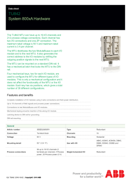 Export data sheet - System 800xA Hardware Selector