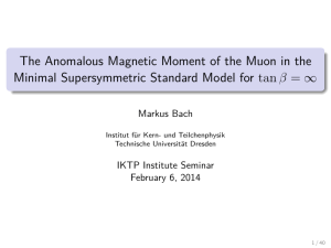 The Anomalous Magnetic Moment of the Muon in the Minimal