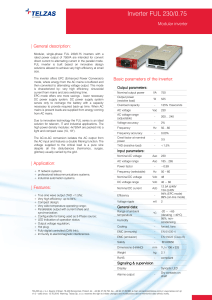 Inverter FUL 230/0.75 - Contact ETC power European Technology
