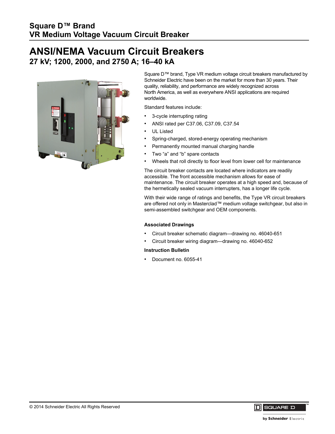 ANSI/NEMA Vacuum Circuit Breakers on