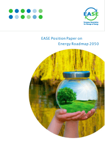 EASE Position Paper on Energy Roadmap 2050