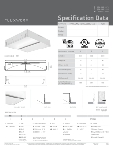 Specification Data