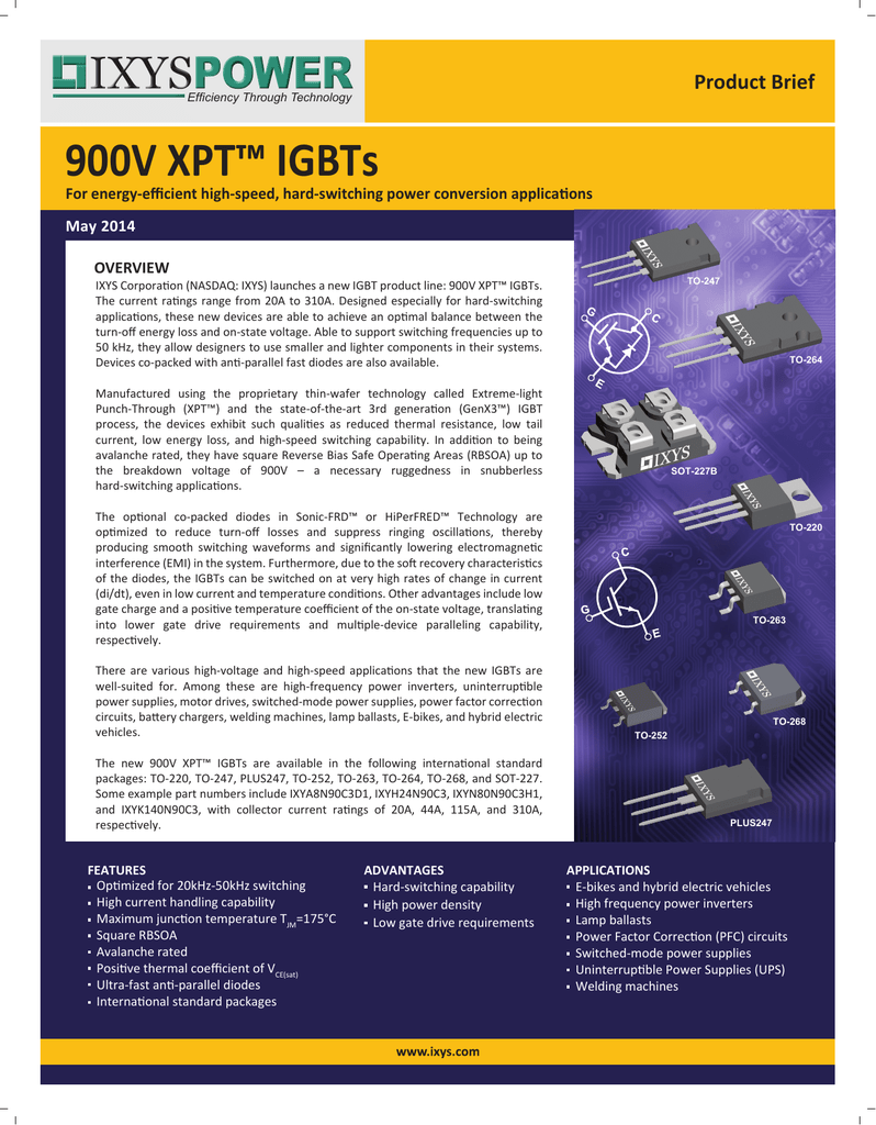 900v Xpt Igbts Brief Parallel Circuits Advantages Power Current Voltage And Effective