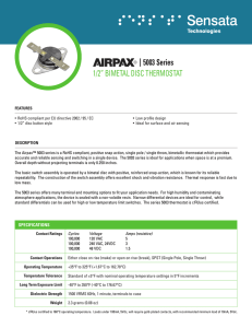 5003 Series - Airpax - Sensata Technologies