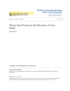 Theory Into Practice in Art Education: A Case Study