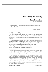 The End of Art Theory - National Humanities Institute