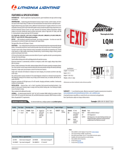 Lithonia LQM SW 3 R 120/277 M6 Exit Sign Spec