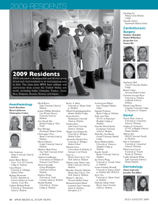 2009 residents - Brigham and Women`s Hospital