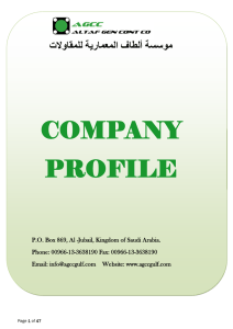 company profile - AGCC (Altaf General Contracting Co.)