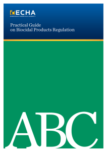 Practical Guide on Biocidal Products Regulation - ECHA
