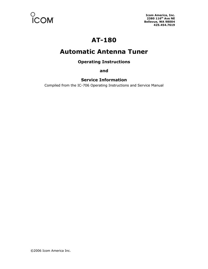 AT-180 Automatic Antenna Tuner