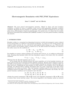 Electromagnetic Boundaries with PEC/PMC Equivalence