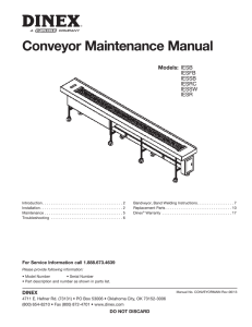 Conveyor Maintenance Manual - Carlisle FoodService Products