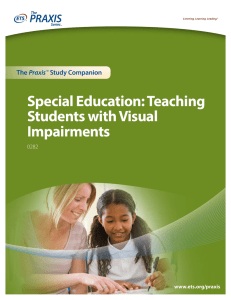 Special Education: Teaching Students with Visual