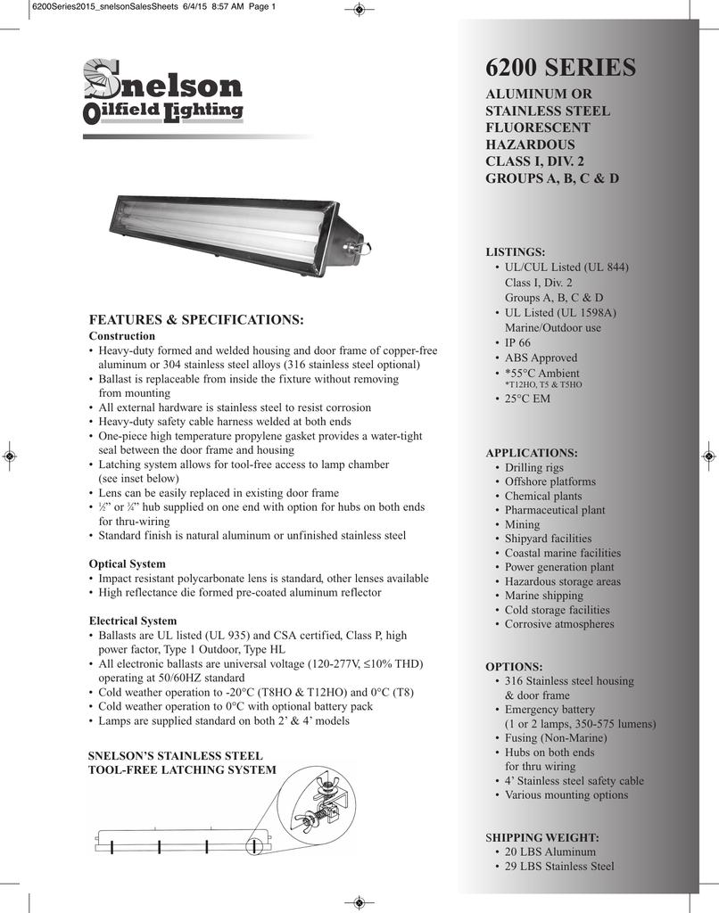 6200 PDF - Snelson Oilfield Lighting