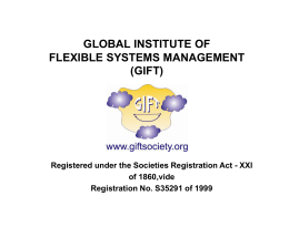 global institute of flexible systems management