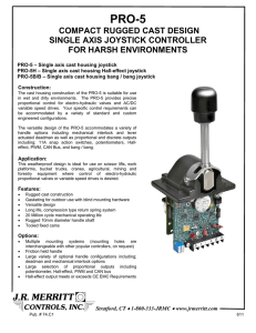 compact rugged cast design single axis joystick controller for harsh