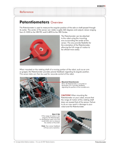 Potentiometers - Robotics Academy