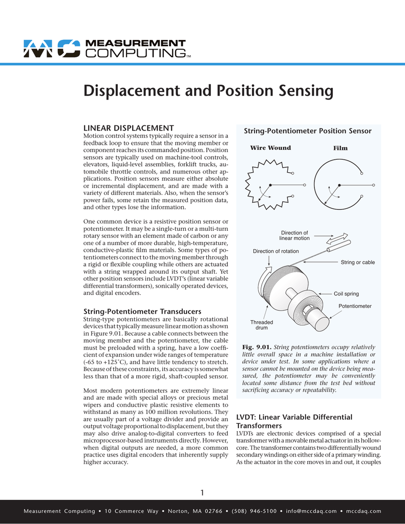 Displacement and Position Sensing