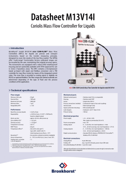 mini CORI-FLOW Coriolis Mass Flow Controller for