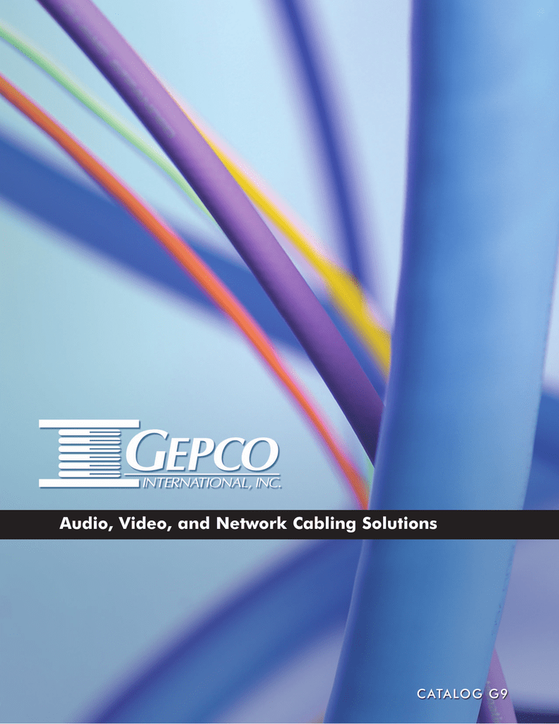 Gepco G9 Cable Catalog Cat5e Rj45 Ethernet Shielded 26 Awg Pvc Jacket Gray 150 Ft