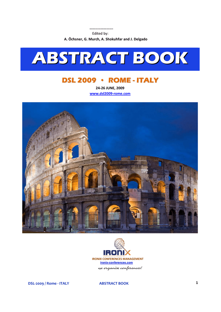 abstract book dsl 2009 • rome