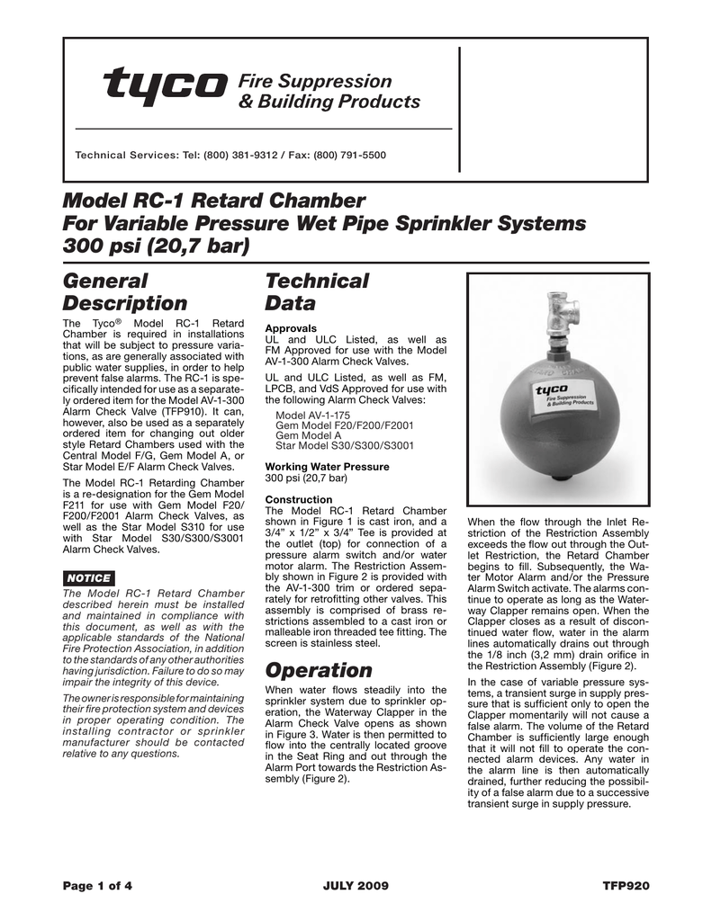 PDF 645kb - Tyco Fire Products
