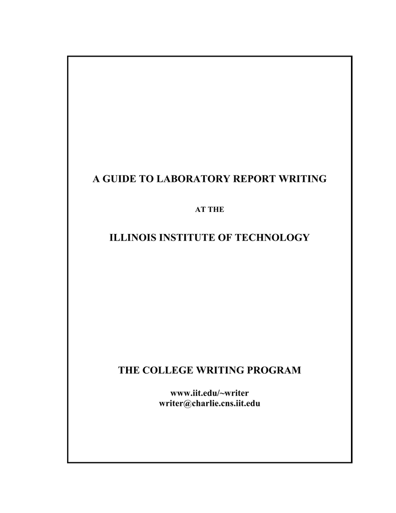 guide to laboratory report writing