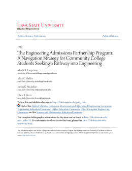 The Engineering Admissions Partnership Program