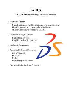 CATIA CADAM Drafting`s Electrical Product o Schematic Capture