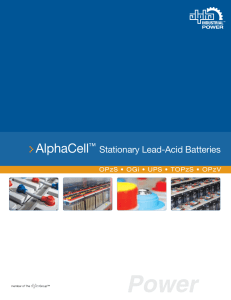 AlphaCell Stationary Lead-Acid Battery