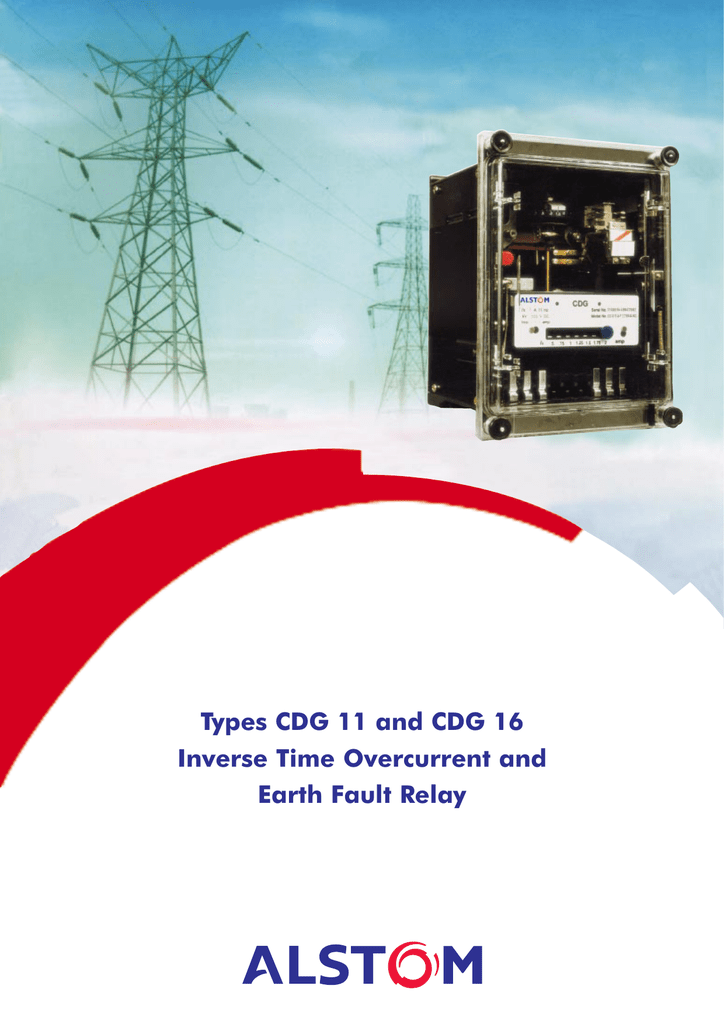 types cdg 11 and cdg 16 inverse time overcurrent and earth rh studylib net  cdg 31 relay connection diagram