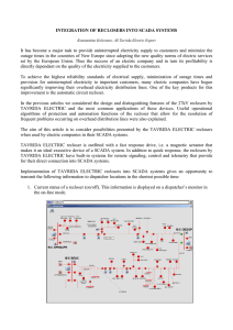 INTEGRATION OF RECLOSERS INTO SCADA SYSTEMS It has