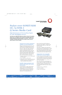 Packet-over-SONET/SDH OC-3c/STM-1 Q Series Media Card