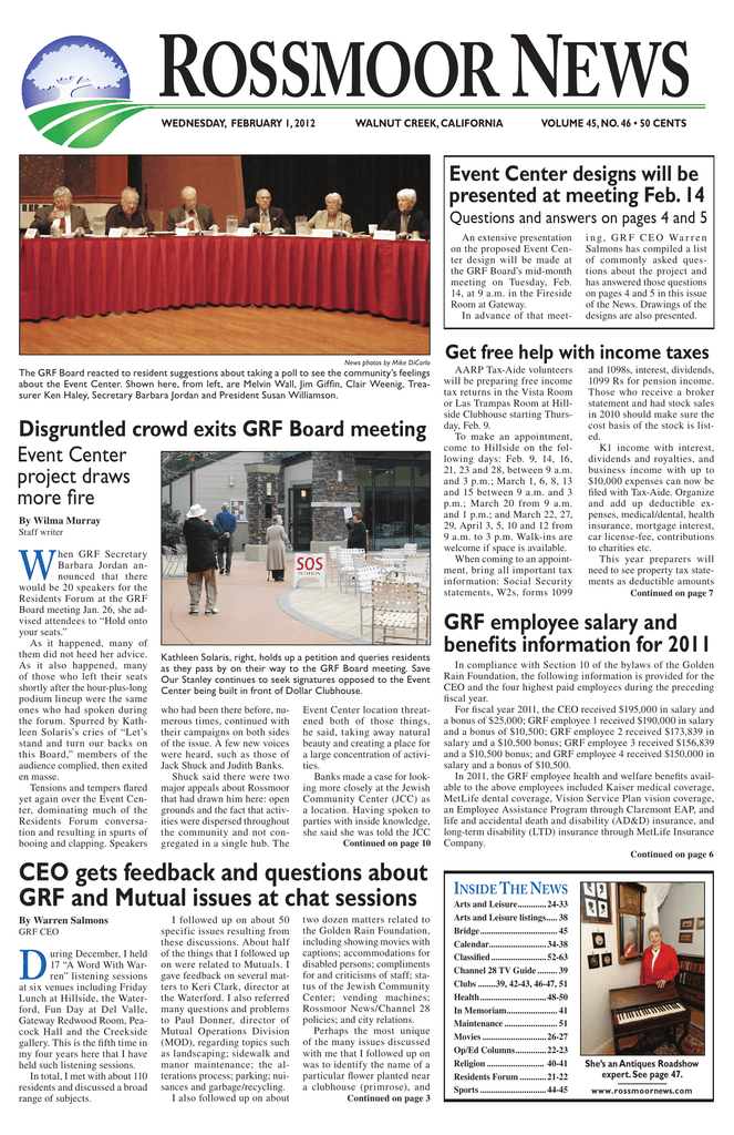 CEO gets feedback and questions about GRF and Mutual issues at