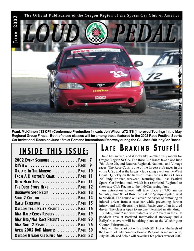 The Loud Pedal - Oregon Region SCCA