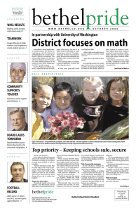 District focuses on math