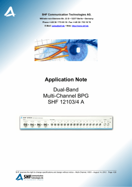 Application Note Dual-Band Multi