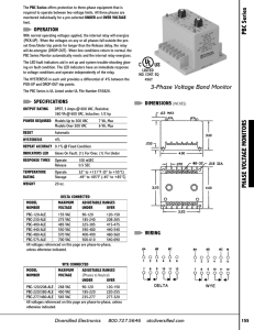 PHASE VOLTAGE MONITORS PBC Series