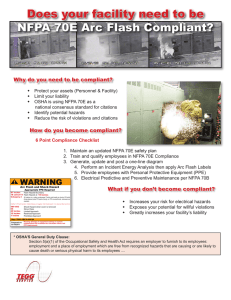 Does your facility need to be NFPA 70E Arc Flash