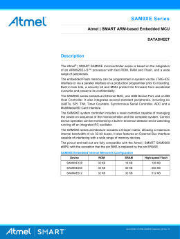 Atmel | SMART SAM9XE Datasheet