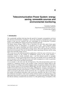 Telecommunication Power System: energy saving