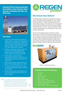 Why Telecom Base Stations?