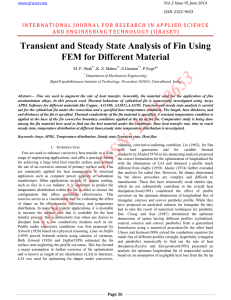 Transient and Steady State Analysis of Fin Using FEM for