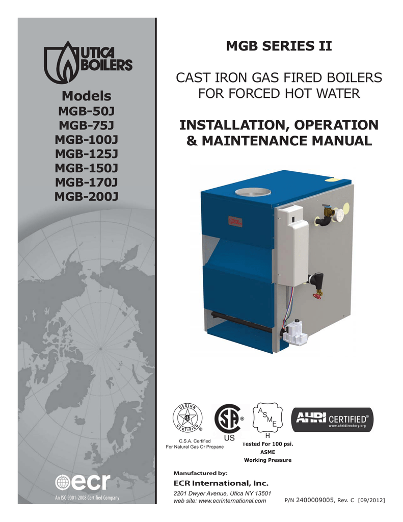 Mgb Series Ii Cast Iron Gas Fired Boilers Utica Wiring Diagram