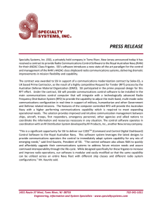 PRESS RELEASE - Specialty Systems