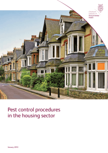Pest control procedures in the housing sector