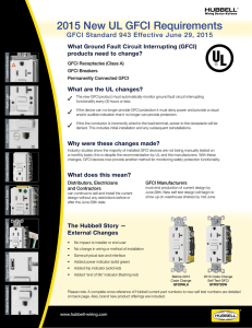 2015 New UL GFCI Requirements - Hubbell Wiring Device
