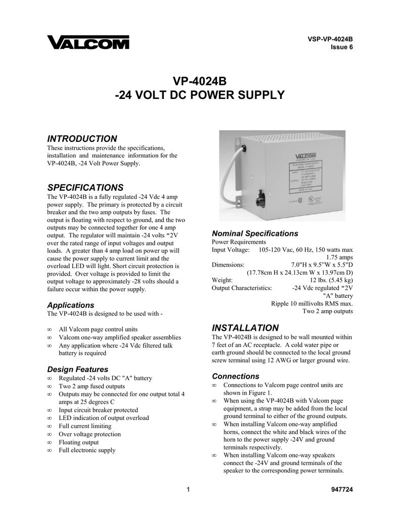 INTRODUCTION Valcom Watt Wiring Diagram on